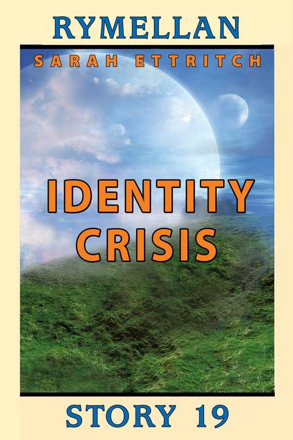 The cover for Identity Crisis, the nineteenth story in the Rymellan Series.