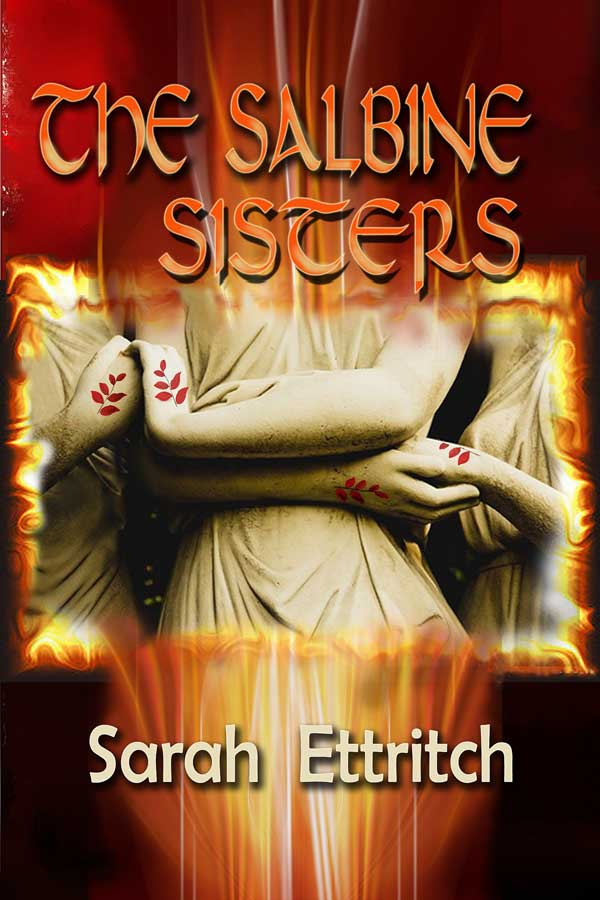 The cover for The Salbine Sisters, a lesbian fantasy novel.