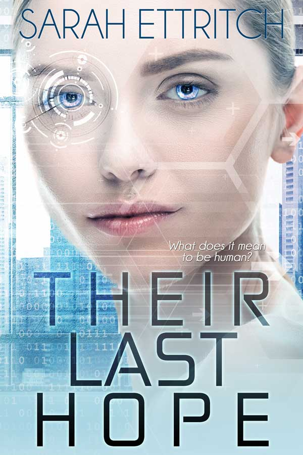 The cover for Their Last Hope, a science fiction character with a lesbian main character.