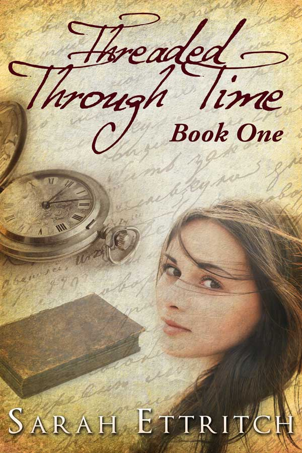 The cover for Threaded Through Time (Book One), a lesbian romance.