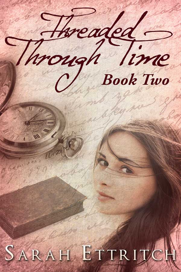 The cover for Threaded Through Time (Book Two), a lesbian romance.