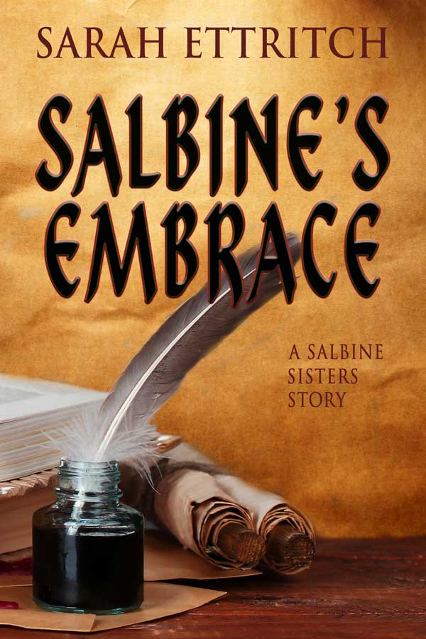 Cover for Salbine's Embrace -a lesbian fantasy book